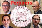 Mark DiVincenzo, Jason Baletsa, Jaren Wilcoxson, Peter Bebergal, Perjurers, MIT seal, Lawyers